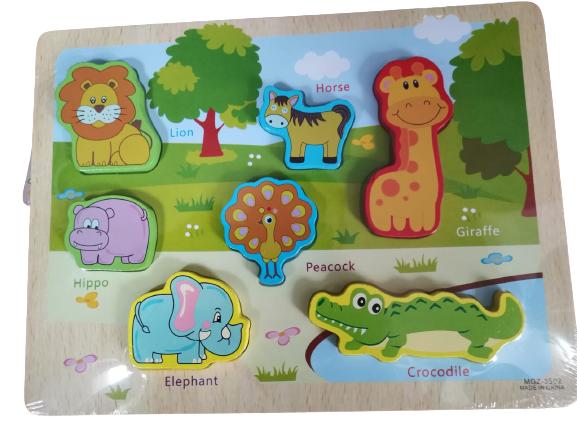 Puzzle lemn 3D Animale Jungla 4