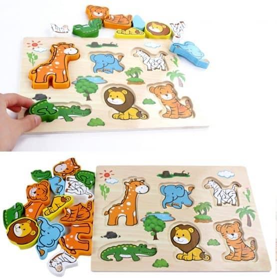 Puzzle lemn 3D cu piese 4