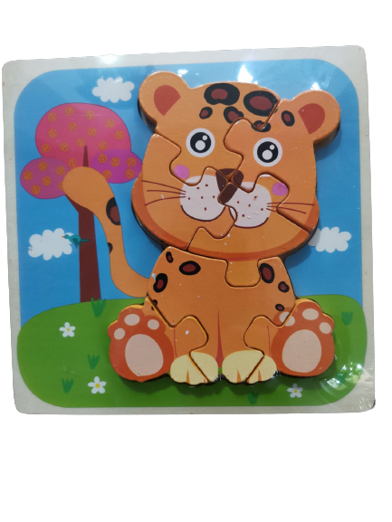 Puzzle lemn 3D Montessori Animale 0