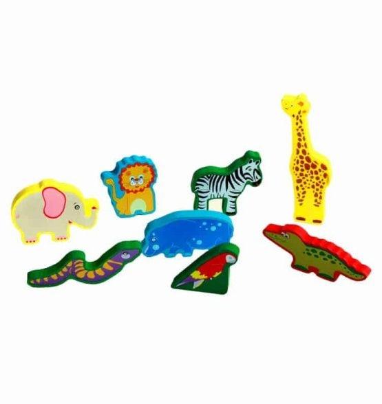 Puzzle lemn 3D Animale Jungla 3