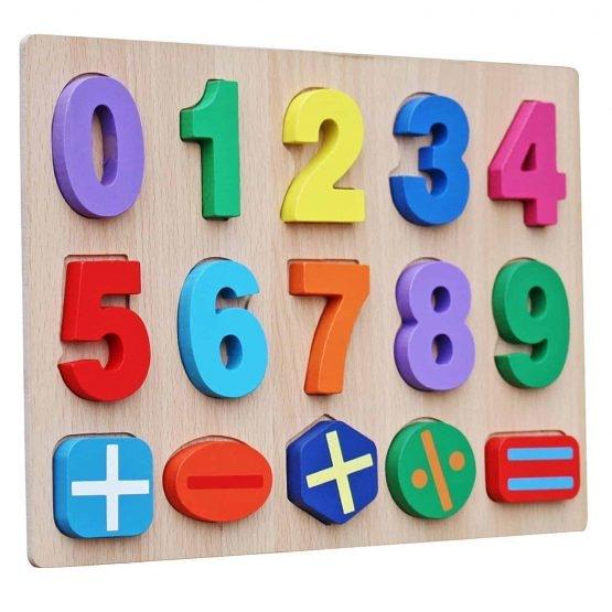 Puzzle lemn  cifre pentru copii 3D 1