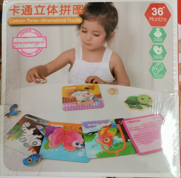 Puzzle Montessori incastru 3D - set 5 puzzle [11]