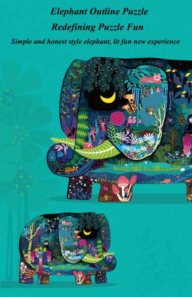 Puzzle educational Mare Elefant mozaic 280 piese Mideer 3