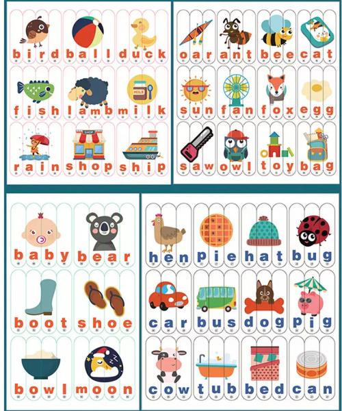 Set Puzzle betisoare creative cuvinte in engleza si imagini 2