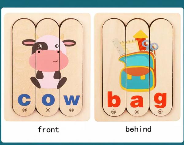 Set Puzzle betisoare creative cuvinte in engleza si imagini 5
