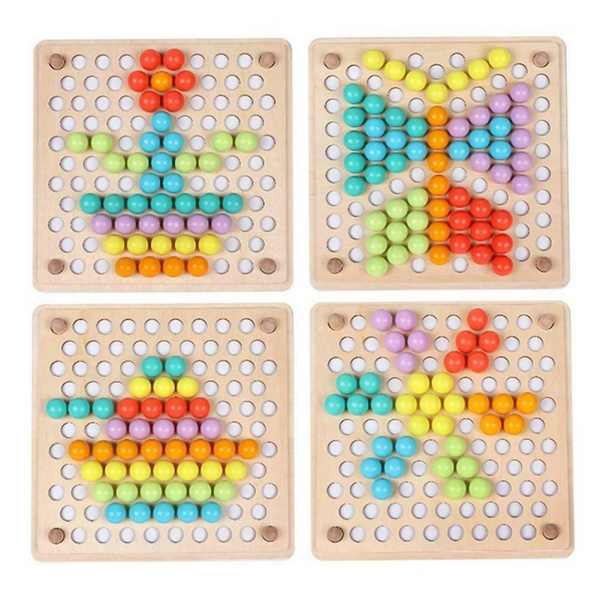 Joc din lemn montessori Sortator culori 11
