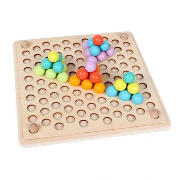 Joc din lemn montessori Sortator culori 3