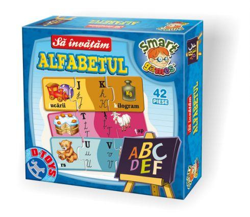 Joc educativ Puzzle sa invatam Alfabetul D-Toys 0