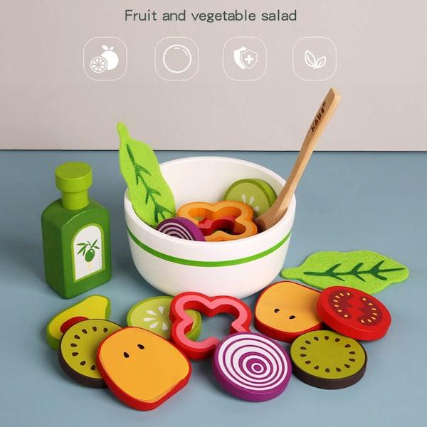 Joc din lemn legume - Invata sa facem salata Kabi 1
