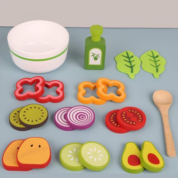 Joc din lemn legume - Invata sa facem salata Kabi 10