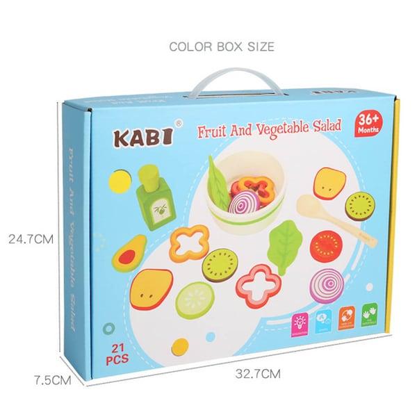 Joc din lemn legume - Invata sa facem salata Kabi 6