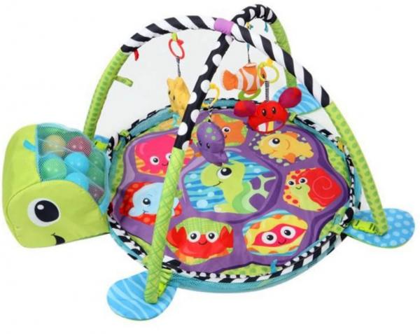 Saltea activitati bebe si centru de joaca cu bile 3 in 1 6