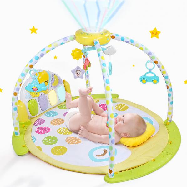 Saltea de joaca bebe cu piana, carusel si proiector Goodway 0