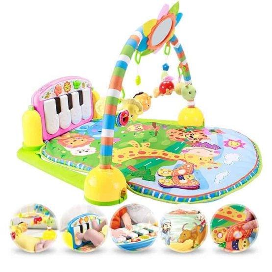 Saltea de joaca bebe cu centru activitati 4 in 1 Piano 6