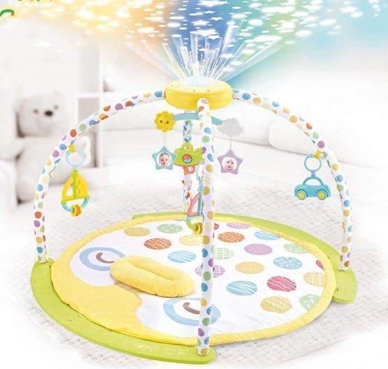 Saltea de joaca bebe cu piana, carusel si proiector Goodway 1