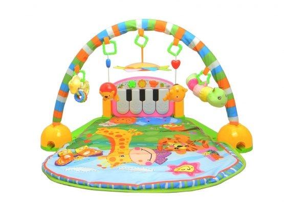 Saltea de joaca bebe cu centru activitati 4 in 1 Piano 5