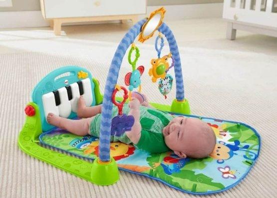 Saltea de joaca bebe cu centru activitati 4 in 1 Piano 1