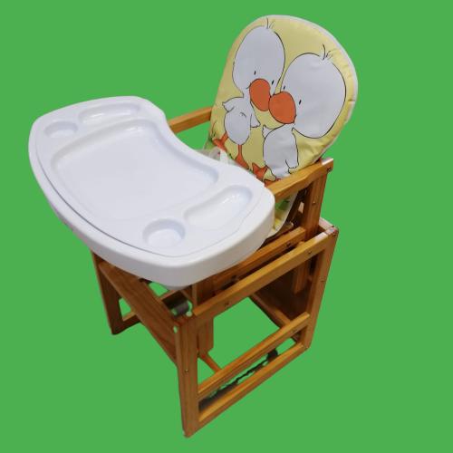 Scaun si Masuta de Lemn 2 in 1 Baby Care - Masa de Mancat Bebe din Lemn 2 in 1 6