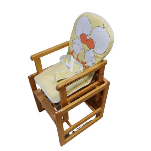 Scaun si Masuta de Lemn 2 in 1 Baby Care - Masa de Mancat Bebe din Lemn 2 in 1 4