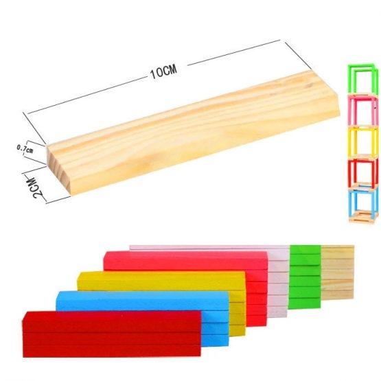 Set 150 de cuburi din lemn de constructie 6