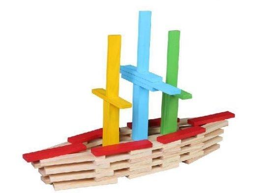 Set 150 de cuburi din lemn de constructie 1