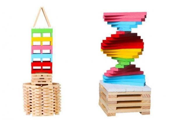 Set 150 de cuburi din lemn de constructie 2