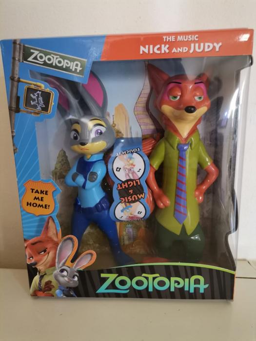 Figurine Zootopia Nick Fox si Judy Rabbit 1