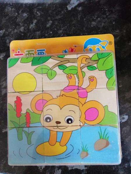 Set 2 Puzzle cuburi din lemn 3