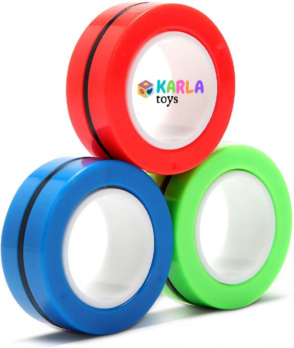 Set 3 buc Joc antistres Inel Magnetic - Magnetic Ring - 0