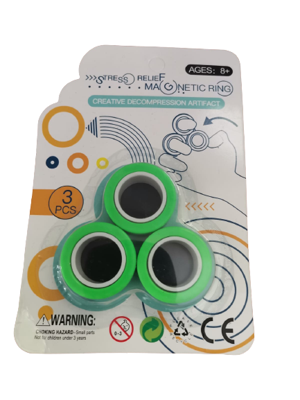 Set 3 buc Joc antistres Inel Magnetic - Magnetic Ring - 5
