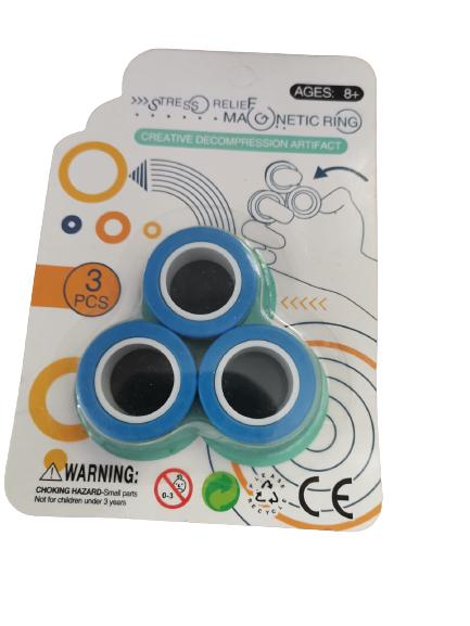 Set 3 buc Joc antistres Inel Magnetic - Magnetic Ring - 4