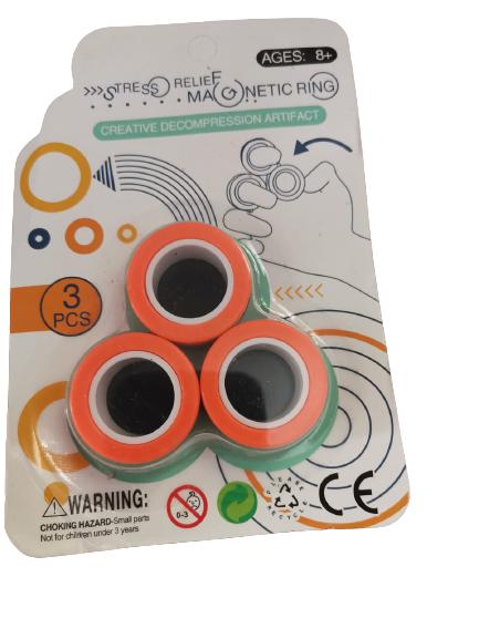 Set 3 buc Joc antistres Inel Magnetic - Magnetic Ring - 6