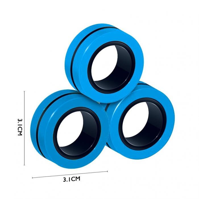 Set 3 buc Joc antistres Inel Magnetic - Magnetic Ring - 8