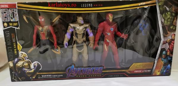 Set figurine tip Avengers Iron man Thanos Black Panther Siderman 0