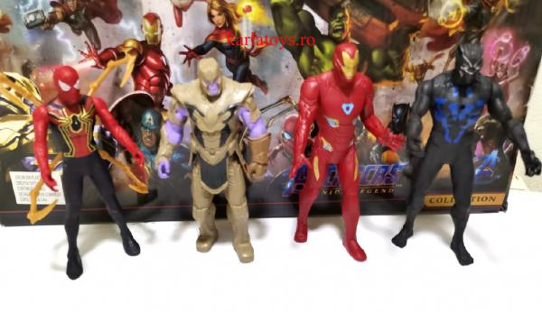 Set figurine tip Avengers Iron man Thanos Black Panther Siderman 4