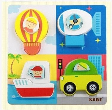 Set 4 puzzle din lemn 2 straturi Kabi 3