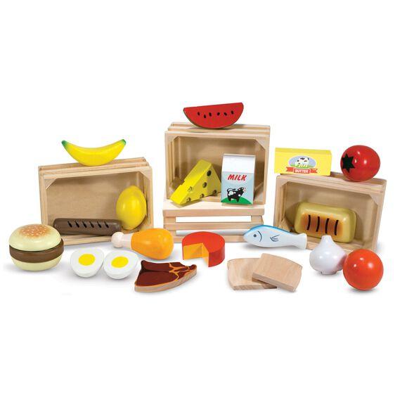 Set Alimente din Lemn pentru Copii Melissa and Doug 0