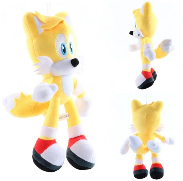 Set 6 buc Jucarii de plus Super Sonic - Set Plusuri Sonic Hedgehog 24