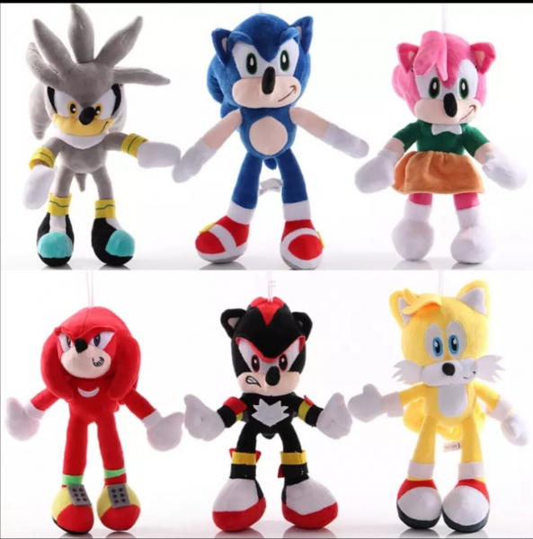 Set 6 buc Jucarii de plus Super Sonic - Set Plusuri Sonic Hedgehog 18