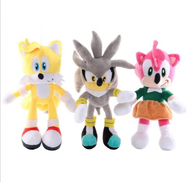 Set 6 buc Jucarii de plus Super Sonic - Set Plusuri Sonic Hedgehog 27