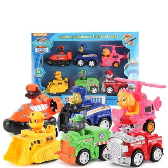 Set Patrula Catelusilor  figurine cu masinute 0