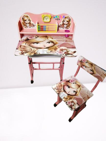 Birou si scaun pentru copii reglabil cu AbacBirou si scaun pentru copii reglabil cu Abac 0