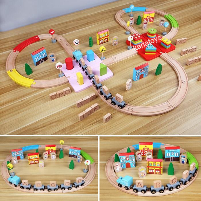 Set Circuit Tren cu litere si sortator 100 de piese [0]