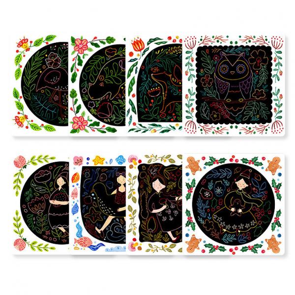 Set Creativ Planse de razuit Mideer - Scratch art card Mideer 2