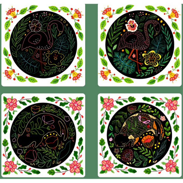 Set Creativ Planse de razuit Mideer - Scratch art card Mideer 5