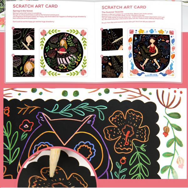 Set Creativ Planse de razuit Mideer - Scratch art card Mideer 8