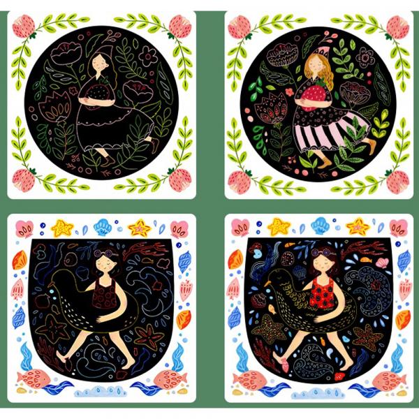 Set Creativ Planse de razuit Mideer - Scratch art card Mideer 7