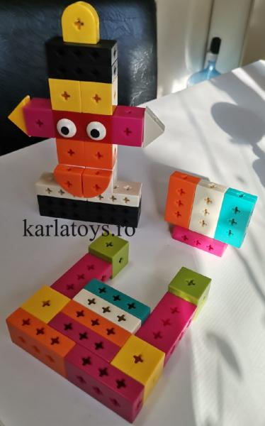 Set Joc de construit Animale Traffic Dinosaur Blocks 9