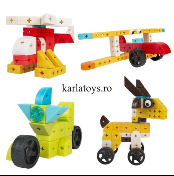 Set Joc de construit Animale Traffic Dinosaur Blocks 2