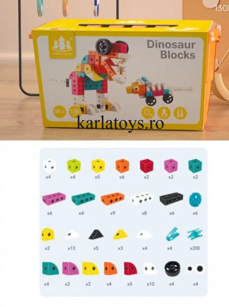 Set Joc de construit Animale Traffic Dinosaur Blocks 0